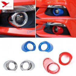ABS Chrome Front Fog Light Lamp Cover Trim 2pcs for Ford Mustang 2015 2016 2017