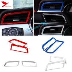 Inner Front Side Air Condition Vent Cover Trim 2pcs For Ford Mustang 2015 - 2017