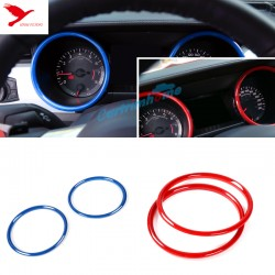 ABS Interior Dashboard Meter Ring Cover Trim 2pcs For Ford Mustang 2015 - 2017