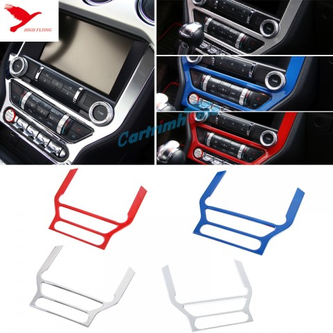Interior Dashboard Navigation Panel Cover Trim 1pcs For Ford Mustang 2015 - 2017