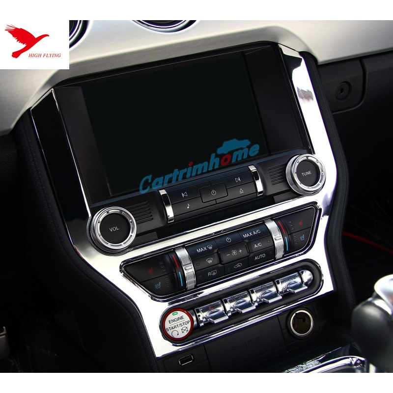 Interior Dashboard Navigation Panel Cover Trim 1pcs For Ford Mustang 2015    2017
