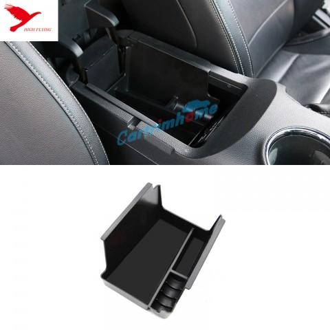 Black Interior Armrest Storage Box Holder For Ford Mustang 2015 2016 2017