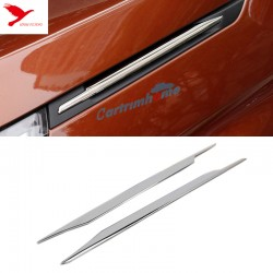 Front Hood Side Decorative Stripe Cover Trim 2pcs For Peugeot 3008 GT 2016 2017 2018