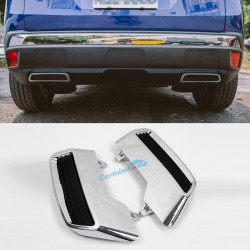 Pre-sale, expected ship on June 5, ABS Rear Exhaust Muffler Tip End Pipe Replacement Kit 2pcs For Peugeot 3008 / 5008 2016 2017 2018