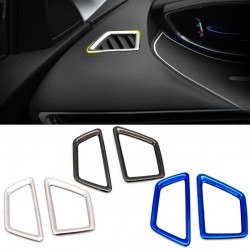 Inner Front Upper Air Outlet Vent Cover Trim 2pcs For Peugeot 3008 GT 2016 2017 2018