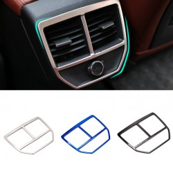 Stainless Inner Rear Air Condition Vent Cover Trim For Peugeot 3008 GT 2016 2017 2018