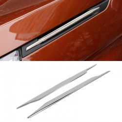 Steel Side Wing Fender Decorative Stripe Cover Trim 2pcs For Peugeot 5008 2017 2018