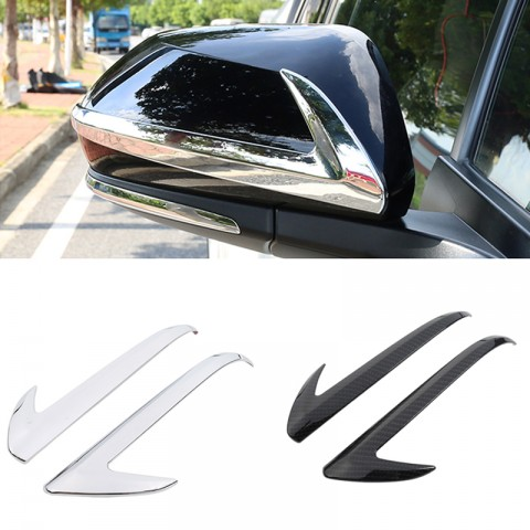 Low-Equipped! ABS Chrome Rearview Side Mirror Stripe Cover Trim 2pcs For Toyota C-HR CHR 2016-2018
