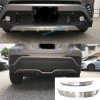 Stainless Steel Front & Rear Bumper Skid Protector Guard Cover For Toyota C-HR CHR 2016-2018