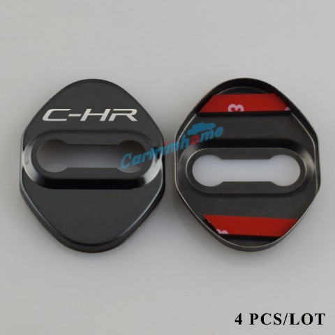Free shipping Steel Door Lock Protector Cover Buckle Decoration 4pcs For Toyota C-HR CHR 2016-2019
