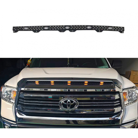 Free Shipping Crew Cab Grille Mesh Amber LED Inside Pattern Kits Fit for TOYOTA Tundra SR 2014+