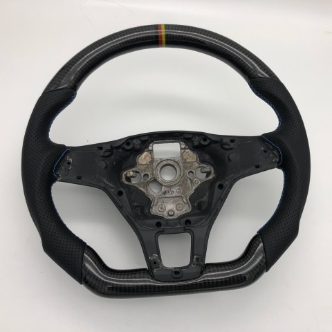Free Shipping Customize Carbon Fiber Steering Wheel Replacement Parts For Audi Q7 2016 2017 2018 2019