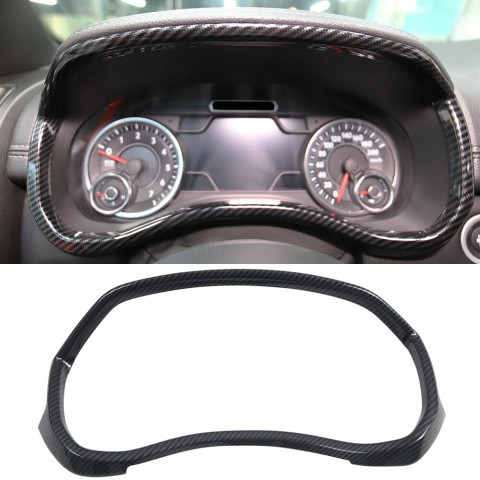 Free Shipping Carbon Style Look Dashboard Meter Frame Cover Trim For Dodge Ram 1500 2019-2021