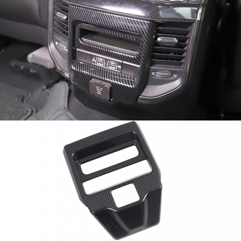 Free Shipping Carbon Style Rear Air Vent Cover Trim For Dodge Ram 1500 2019-2021