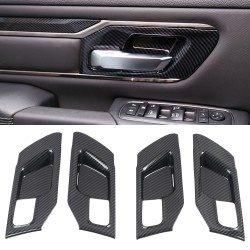 Free Shipping Carbon Style Inner Side Door Handle Bowl Cover Trim 4pcs For Dodge Ram 1500 2019-2021