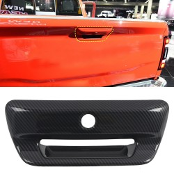 Free Shipping Carbon Style Rear Door Tailgate Handle Cover Trim For Dodge Ram 1500 2019-2021