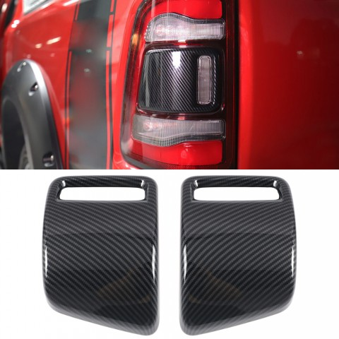 Free Shipping Carbon Style Rear Tail Light Tail Lamp Cover For Dodge Ram 1500 2019-2021