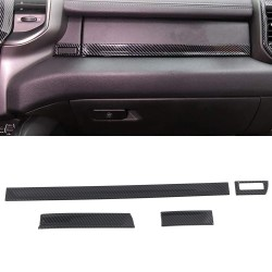 Free Shipping Carbon Style Dashboard Console Molding Cover Trim For Dodge Ram 1500 2019-2021