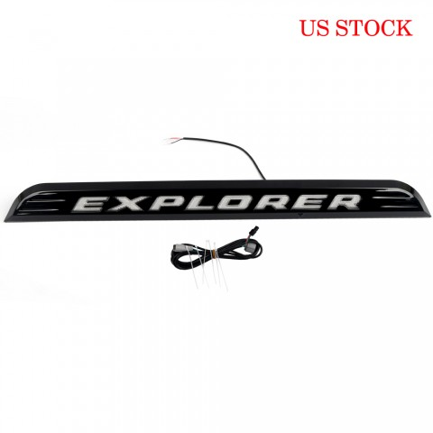Only ship to US!!!Free Shipping LED Badge Rear Trunk Tailgate Molding Trim Strip For Ford Explorer 2020-2021