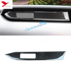 Free Shipping Real Carbon Fiber Interior Middle Control Stripe Cover For Ford Mustang 2015-2019