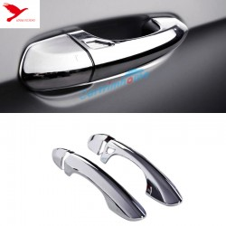 Free Shipping Chrome Smart Key Hole Door Handle Cover Trim 4pcs for Ford Mustang 2015 - 2019