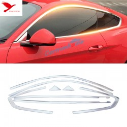 Steel Window Full Complete Around Cover Trim 8pcs for Ford Mustang 2015 - 2019