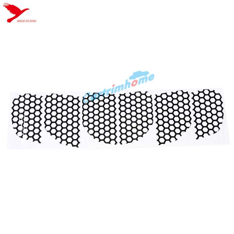 rear tail light honeycomb style stickers cover trim for