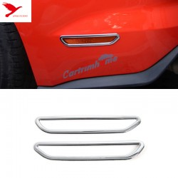Free Shipping 2Pcs ABS Chrome Rear Bumper Warning Light Cover Trim for Ford Mustang 2015 - 2019