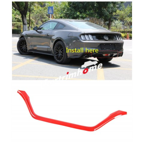 Free Shipping US version! Rear Bumper Bottom Reversing Light Cover Trim 1pcs For Ford Mustang 2015 - 2019