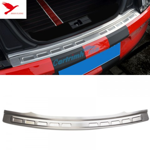 Outer Rear Bumper Protector Sill Plate Trim 1pcs for Ford Mustang 2015 2016 2017