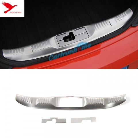 Inner Rear Bumper Protector Sill Plate Trim 3pcs for Ford Mustang 2015-2019