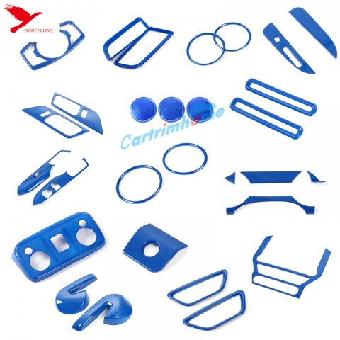 Free Shipping Left Hand Drive! 35pcs blue Interior decoration for ford mustang 2015-2019