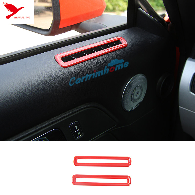 left hand drive 35pcs red interior decoration for ford mustang 2015