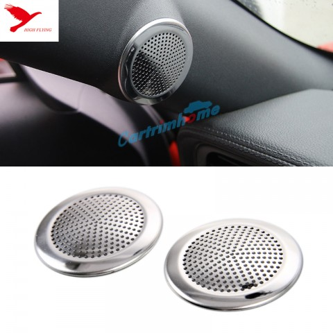 Free Shipping Interior Door Stereo Speaker Cover Trim 2pcs for Ford Mustang 2015-2019