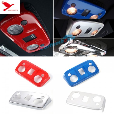 Free Shipping Roof Dome Front Readling Light Lamp Cover Trim 1pcs For Ford Mustang 2015 - 2019