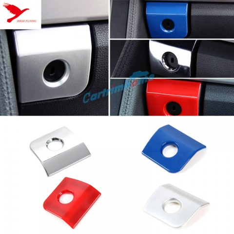 ABS Interior Storage Box Handle Cover Trim 1pcs For Ford Mustang 2015 - 2017