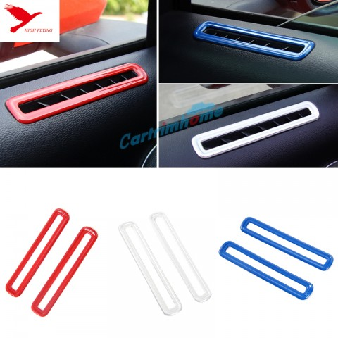 Inner Door Upper Air Condition Vent Cover Trim 2pcs For Ford Mustang 2015 - 2017