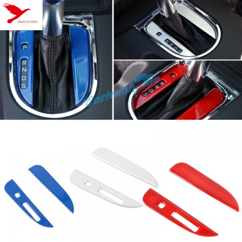 Interior Gear Shift Panel Stripe Cover Trim 2pcs For Ford Mustang 2015 - 2017