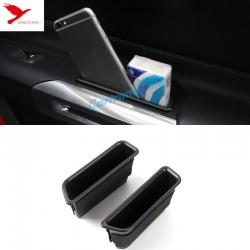 Free Shipping Interior Side Door Storage Box Holder 2pcs For Ford Mustang 2015-2019
