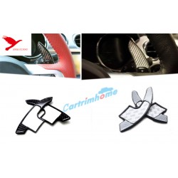 Free Shipping 1 Pair Real carbon fiber DSG Paddle shifters Extensions For Ford Mustang 2015 - 2019