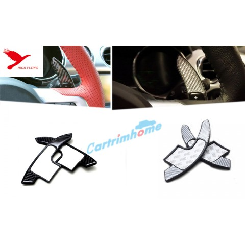 1 Pair  Real carbon fiber DSG Paddle shifters Extensions For Ford Mustang 2015 - 2017
