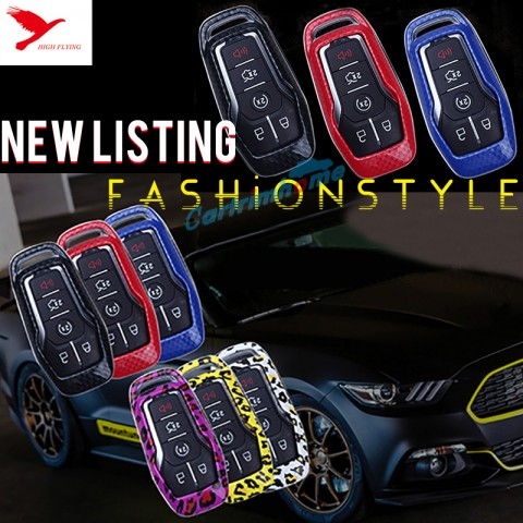 Free Shipping Car 4 or 5 Buttons Smart Key Case Key Bag 1pcs For Ford Mustang 2015-2019