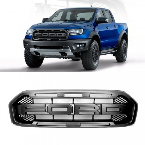 Not Suitable For Wildtrak Models!!!Raptor Style Grille Grill Assembly Upgrade For FORD Ranger 2019