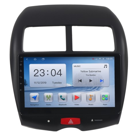 "Free Shipping 9"" Android 10 T10 4+64G / 6+128G Car Multimedia Stereo Radio Audio GPS Navigation Sat Nav Head Unit for Mitsubishi ASX 2010-2017"