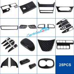 ABS Carbon Style Inner Accessories Cover Trim 25Pcs For Eclipse Cross 2017-2018
