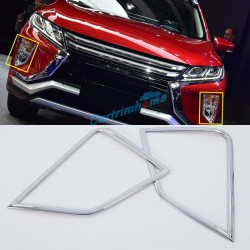 ABS Chrome Front Fog Light Lamp Cover Trim 2pcs For Eclipse Cross 2017-2018
