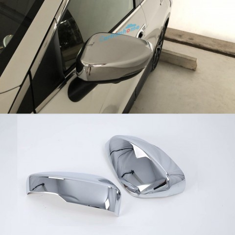 2pcs Door Mirror Cap Shell Cover Trim For Eclipse Cross 2017-2018