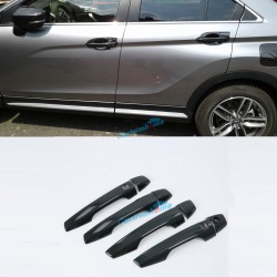 LHD Carbon Style Smart Front Side Door Handle Cover Trim 4pcs For Eclipse Cross 2017-2018