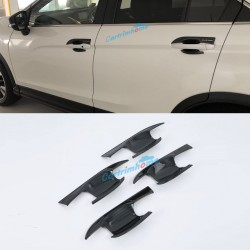 Carbon Style Side Door Handle Bowl Cover Trim 4pcs For Eclipse Cross 2017-2018