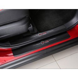 Free Shipping Carbon Style Sticker Door Sill Scuff Plate For Eclipse Cross 2017-2018